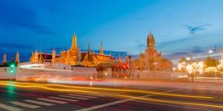 Grand palace at twilight in Bangkok, Thailand Royalty Free Stock Photo