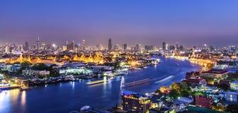 Grand palace at twilight in Bangkok Royalty Free Stock Photos