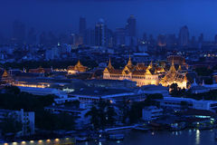 Grand Palace at twilight Thailand Stock Photos