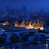 Grand Palace at twilight Thailand Stock Image