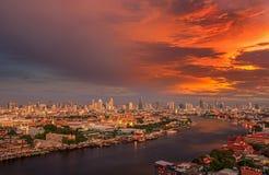 Grand palace and wat arun in Bangkok, Thailand Royalty Free Stock Photography