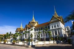 Grand Palace and Wat Phra Kaeo Royalty Free Stock Image