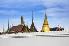 The Grand Palace & Wat Phra Kaew, Bangkok, landmark of Thailand. Royalty Free Stock Photography