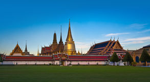 The Grand Palace & Wat Phra Kaew (The Emerald Buddha Temple), Bangkok, Thailand. landmark of Thailand. Royalty Free Stock Photo