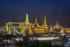 Grand palace and Wat phra keaw at night Royalty Free Stock Photos