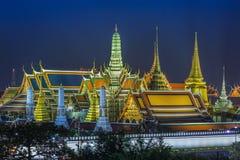 Grand palace and Wat phra keaw at night Stock Photography