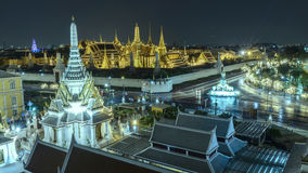 Grand palace and Wat  phra  keaw  at twilight in Bangkok, Thailand. Grand palace and Wat  phra  keaw Royalty Free Stock Photo