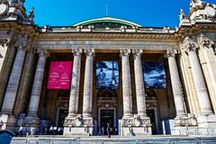 Grand Palais in Paris. Grand Palais building museum in Paris, France Stock Photography