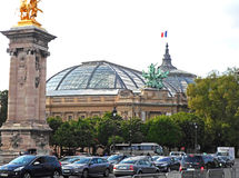 The Grand Palais des Champs-Elysees Stock Photography