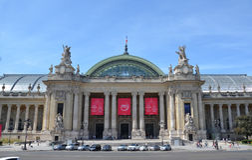 Grand Palais des Champs-Elysees, Paris. PARIS - AUG 13: The Grand Palais des Champs-Elysees in Paris, France is shown on August 13, 2016. It was built for the royalty free stock photos