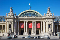 Grand Palais palace in a sunny day in Paris Stock Image