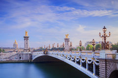 The Grand Palais and Pont Alexandre III Stock Photography