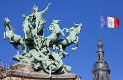 Grand Palais Quadriga in Paris Stock Photography