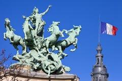 Grand Palais Quadriga in Paris Royalty Free Stock Images