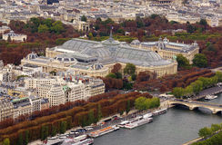 Grand Palais and Seine river in Paris Stock Photos