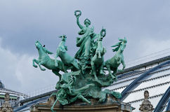 Grand Palais Statue Stock Photography