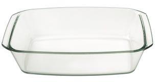 Grand Pan Isolated On White Background de cuisson de verre rectangulaire oblong Photos libres de droits
