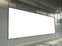 Grand panneau d'affichage sur le mur pour des supports publicitaires appropriés Photos stock