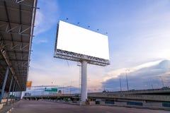 grand panneau d'affichage vide prêt pour la nouvelle publicité Photographie stock
