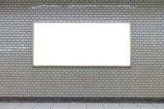 Grand panneau d'affichage vide sur un mur de rue, bannières avec la pièce de s'ajouter images libres de droits