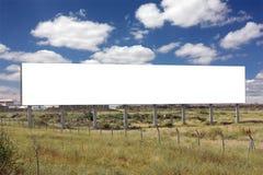Grand panneau-réclame blanc Photos stock