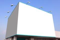 Grand panneau-réclame blanc blanc Images stock