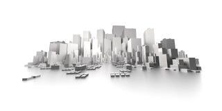Grand panorama d'extrémité d'horizon de ville illustration stock