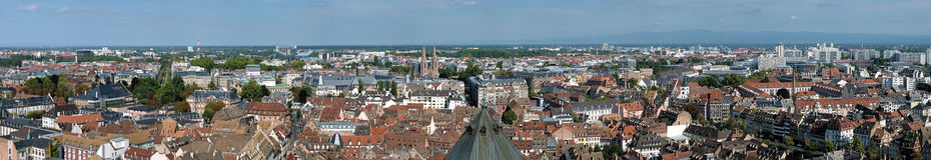 Grand panorama de Strasbourg, France Photos libres de droits