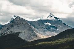 Grand Panorama of Surrounding Peaks at Maligne Lake, Jasper National Park. Photo taken in Canada, Alberta Royalty Free Stock Photos