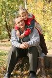 Grand-papa avec le fils Image stock