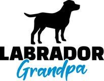 Grand-papa de Labrador avec la silhouette illustration libre de droits