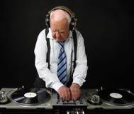 Grand-papa DJ images libres de droits