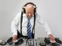 Grand-papa DJ photographie stock