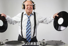 Grand-papa DJ images libres de droits