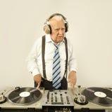 Grand-papa DJ Photo stock