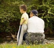 Grand-papa et fils photo libre de droits