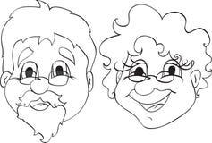 Grand-papa et grand-maman illustration stock