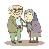 Grand-papa et grand-maman Image libre de droits