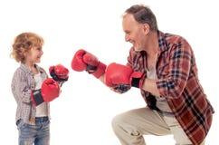 Grand-papa et petit-fils Photo libre de droits