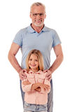 Grand-papa et petite fille Photo stock