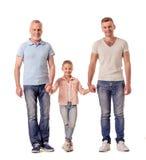 Grand-papa, papa et petite fille Images libres de droits