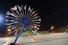 Grand parapluie royal thaï de Florra Images stock