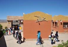 Grand parc de dinosaure, où traces de ces reptiles antiques Photographie stock libre de droits
