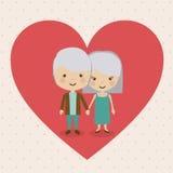 Grand parents design Stock Photo