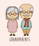 Grand parents design Royalty Free Stock Image