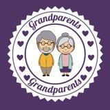 Grand parents design Stock Photos