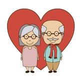 Grand parents design Stock Images