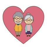Grand parents design Royalty Free Stock Photos