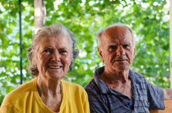Grand parents Stock Images