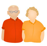 Grand Parents Icon Stock Images